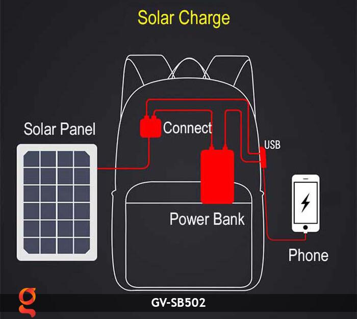 Ba lô dùng năng lượng mặt trời SB502 13