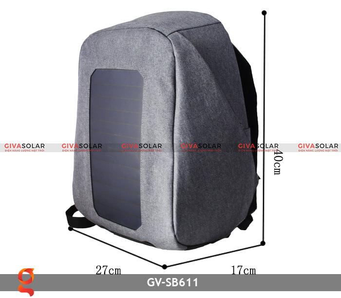 Ba lô sạc điện năng lượng mặt trời SB611 1