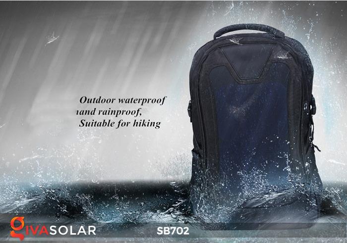 Ba lô sử dụng năng lượng mặt trời SB702 9