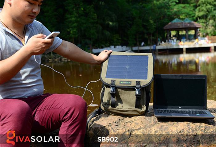 Balo sạc năng lượng mặt trời SB902 10