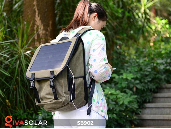 Balo sạc năng lượng mặt trời SB902 12