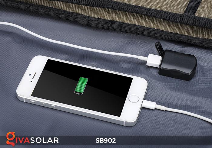 Balo sạc năng lượng mặt trời SB902 7