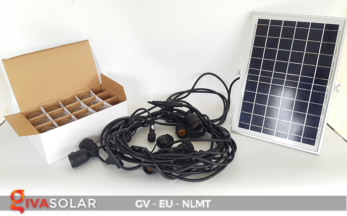 Dây đèn led năng lượng mặt trời EU 1