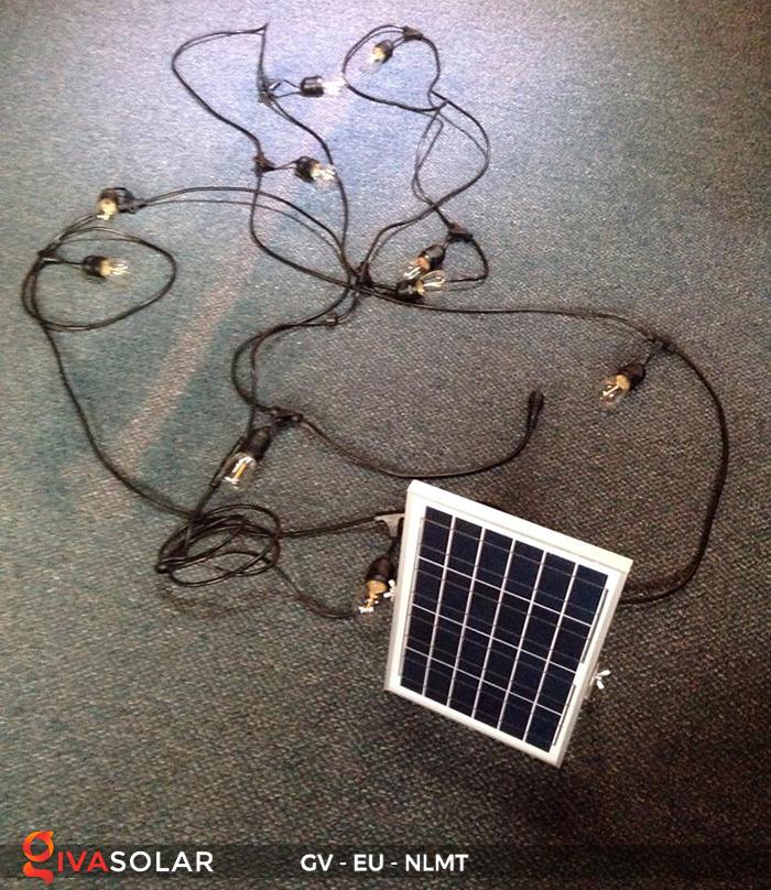Dây đèn led năng lượng mặt trời EU 10