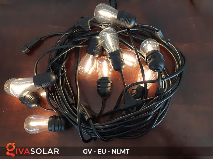 Dây đèn led năng lượng mặt trời EU 5