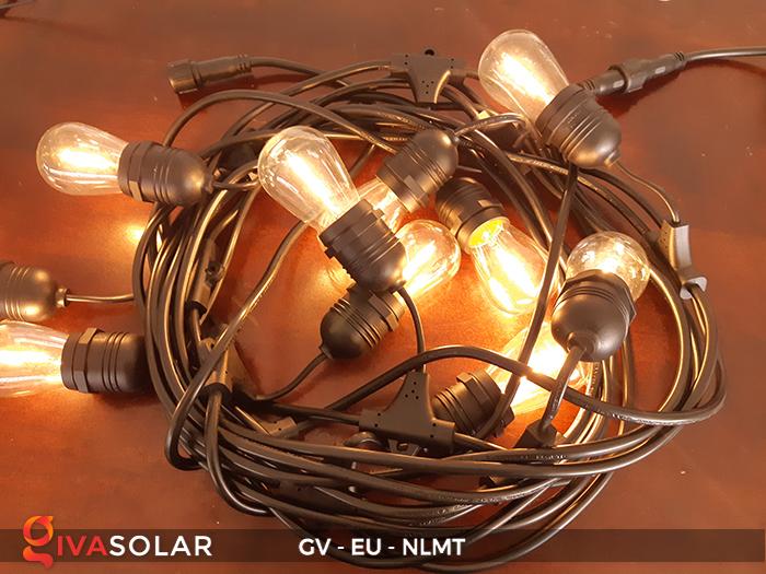 Dây đèn led năng lượng mặt trời EU 6