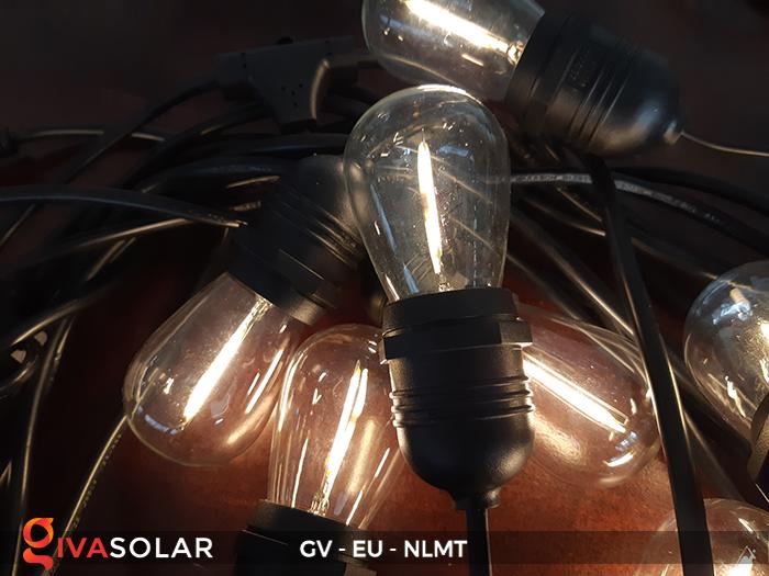 Dây đèn led năng lượng mặt trời EU 8