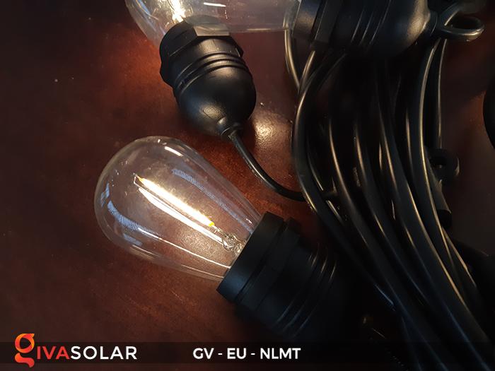 Dây đèn led năng lượng mặt trời EU 9