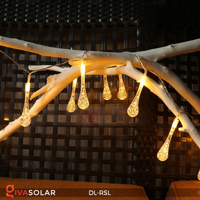 Dây đèn trang trí Solar hình giọt mưa DL-RSL 10