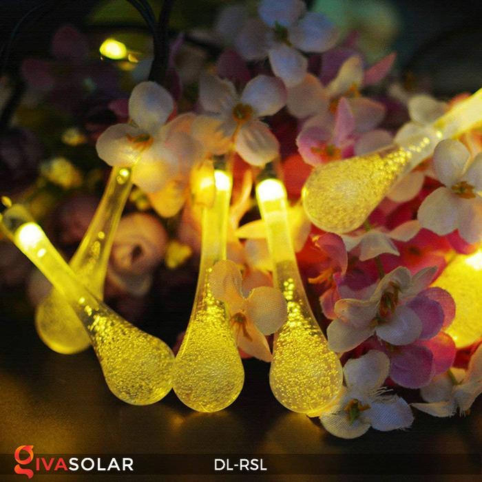 Dây đèn trang trí Solar hình giọt mưa DL-RSL 13