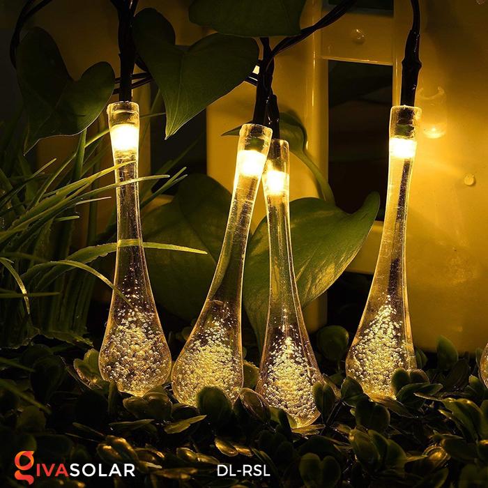 Dây đèn trang trí Solar hình giọt mưa DL-RSL 14