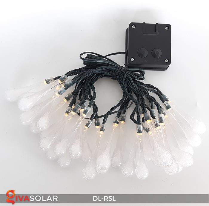 Dây đèn trang trí Solar hình giọt mưa DL-RSL 16