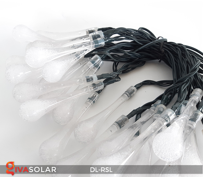 Dây đèn trang trí Solar hình giọt mưa DL-RSL 19
