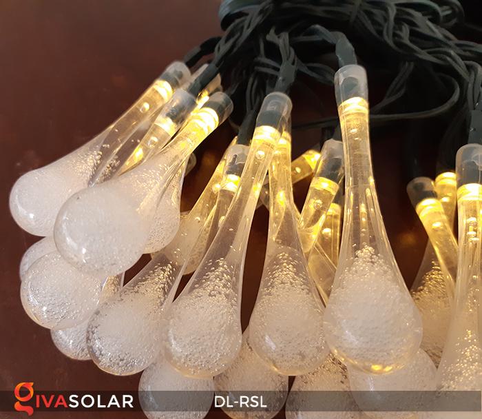 Dây đèn trang trí Solar hình giọt mưa DL-RSL 24