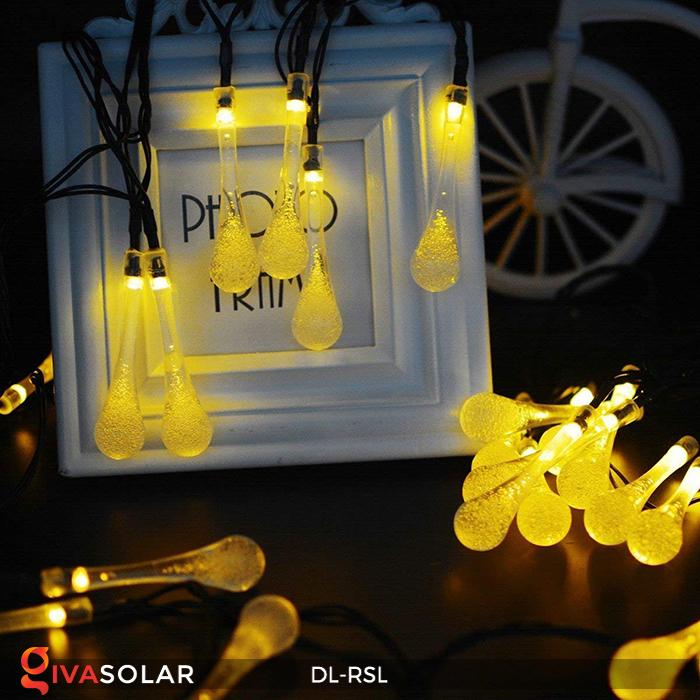Dây đèn trang trí Solar hình giọt mưa DL-RSL 8