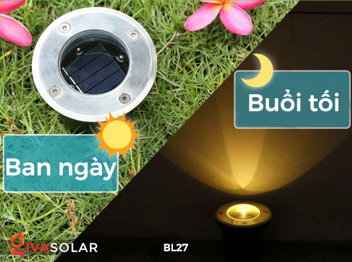đèn led âm sàn năng lượng mặt trời BL27 2