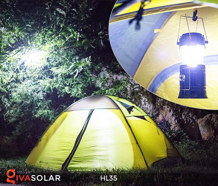 Đèn bão cầm tay năng lượng mặt trời HL35 10