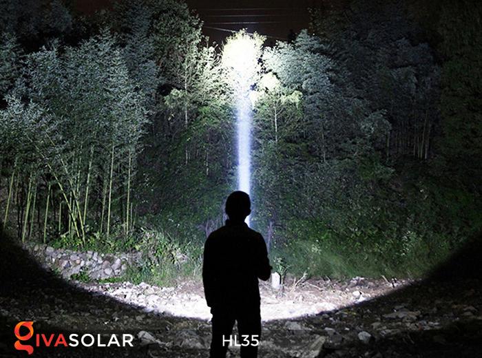 Đèn bão cầm tay năng lượng mặt trời HL35 12