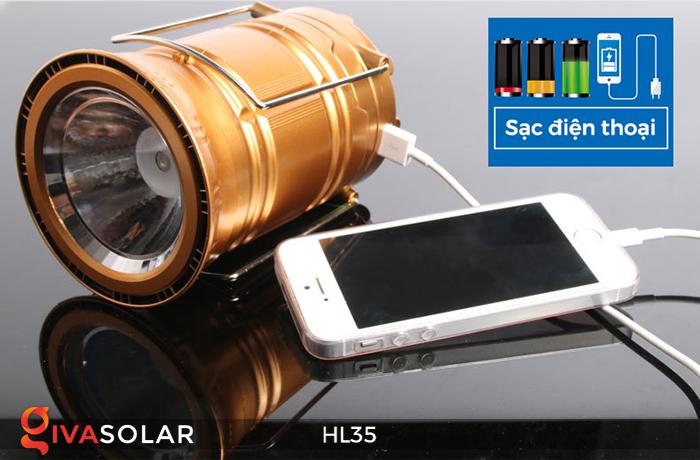 Đèn bão cầm tay năng lượng mặt trời HL35 17