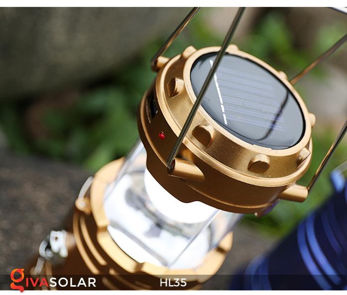 Đèn bão cầm tay năng lượng mặt trời HL35 18