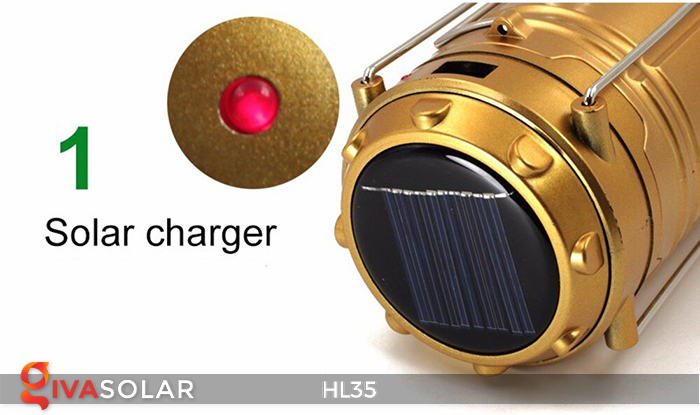 Đèn bão cầm tay năng lượng mặt trời HL35 22