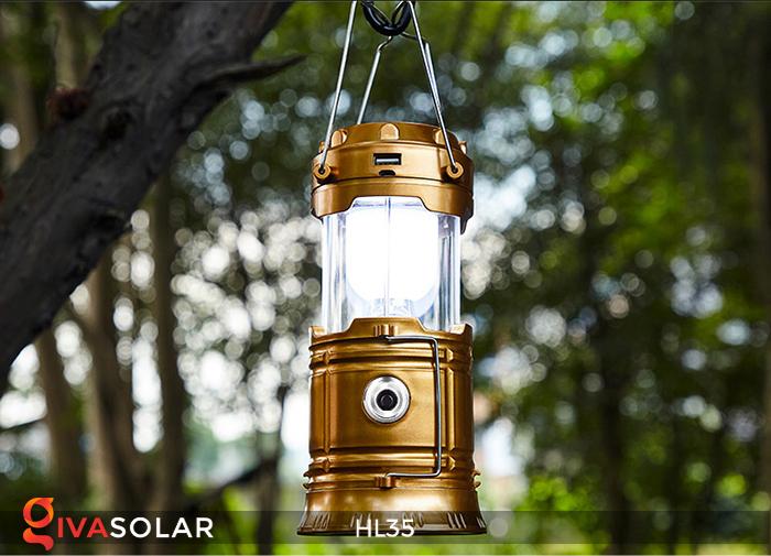 Đèn bão cầm tay năng lượng mặt trời HL35 3
