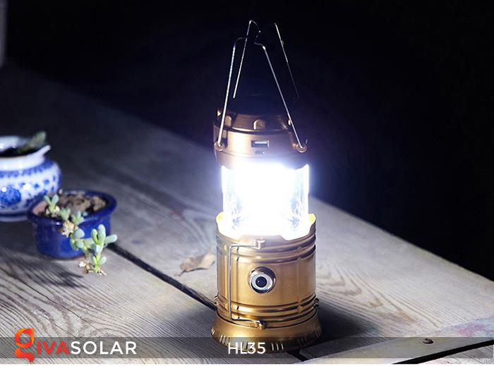 Đèn bão cầm tay năng lượng mặt trời HL35 6