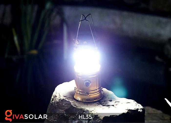 Đèn bão cầm tay năng lượng mặt trời HL35 7