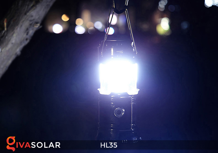 Đèn bão cầm tay năng lượng mặt trời HL35 8