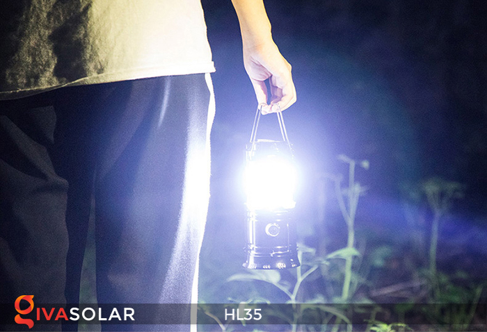 Đèn bão cầm tay năng lượng mặt trời HL35 9