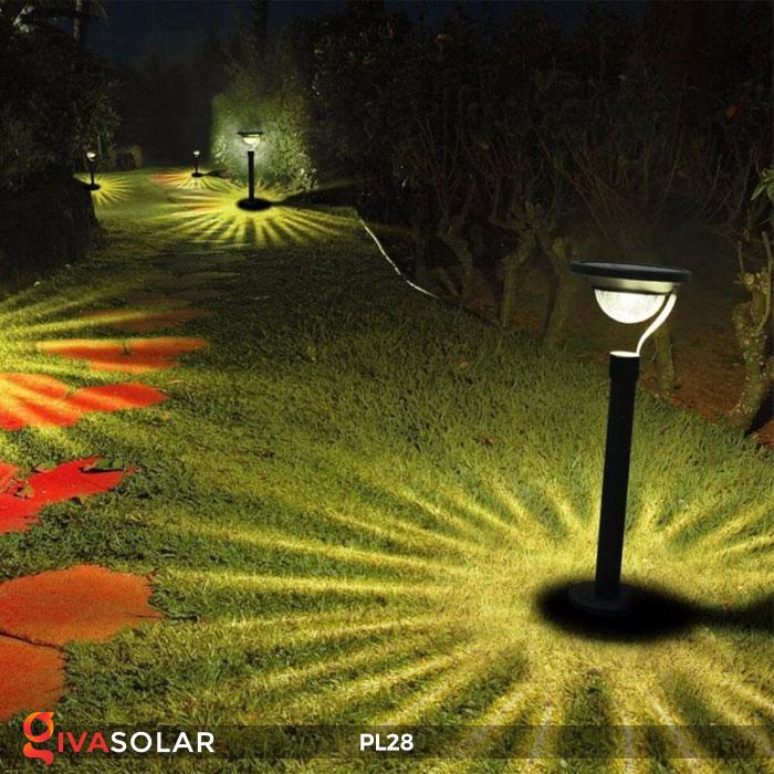 Đèn sân vườn năng lượng mặt trời PL28 15