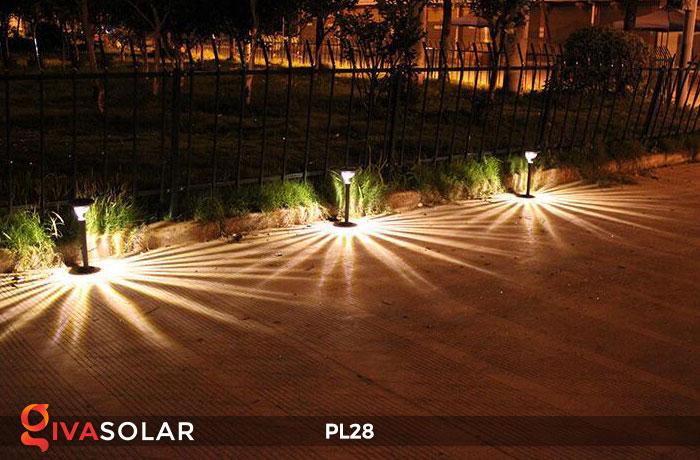 Đèn sân vườn năng lượng mặt trời PL28 16