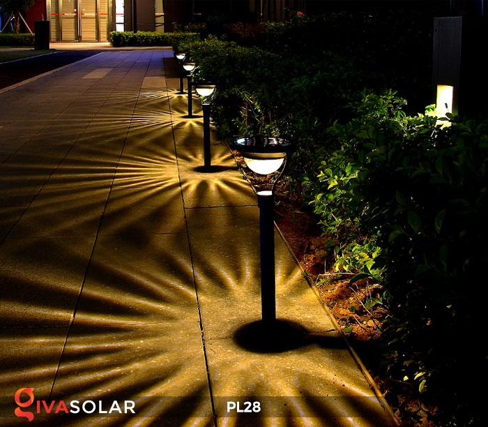 Đèn sân vườn năng lượng mặt trời PL28 2