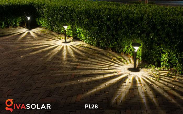 Đèn sân vườn năng lượng mặt trời PL28 6