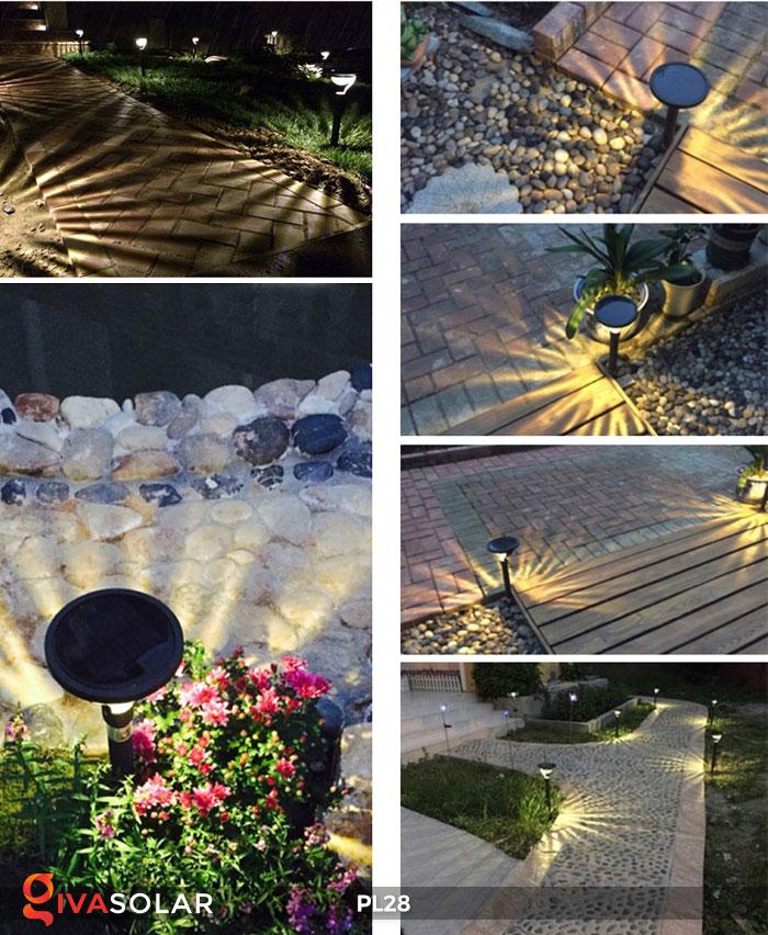 Đèn sân vườn năng lượng mặt trời PL28 9