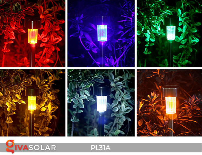 Đèn cắm đất trang trí năng lượng mặt trời PL31A 5