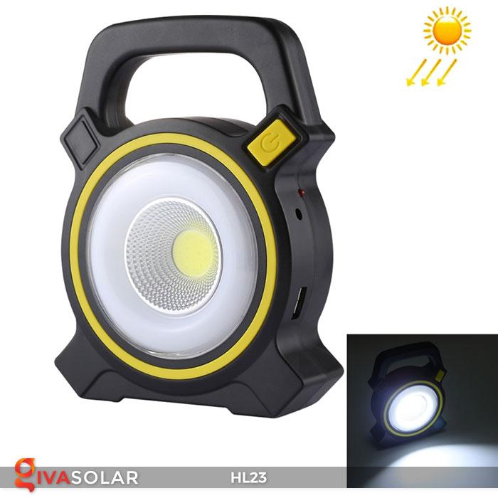 đèn cầm tay năng luongj mặt trời hl23 2