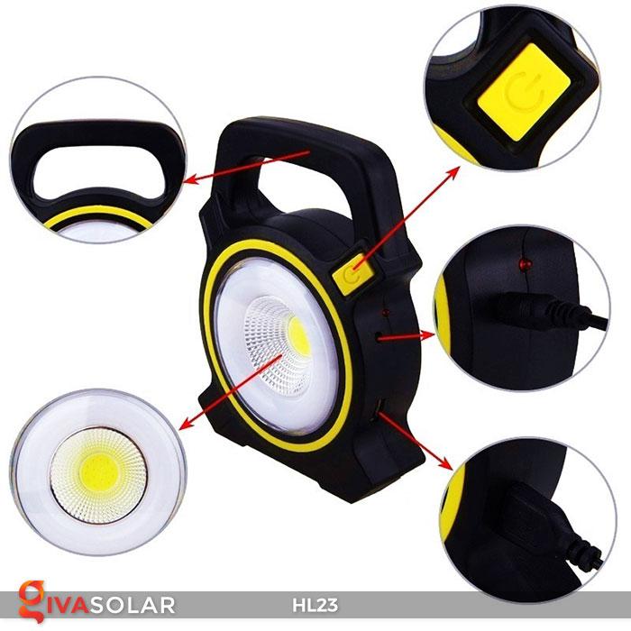 đèn cầm tay năng luongj mặt trời hl23 8