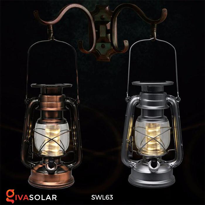 Đèn dầu cổ trang trí năng lượng mặt trời SWL63 2
