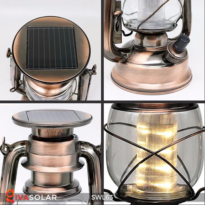 Đèn dầu cổ trang trí năng lượng mặt trời SWL63 6