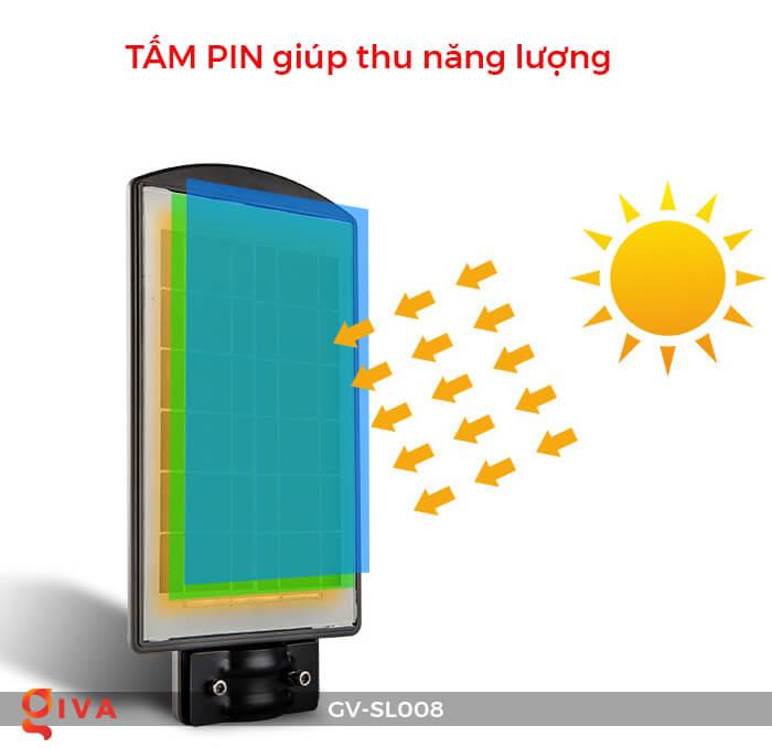Đèn đường chạy năng lượng mặt trời GV-SL008 10