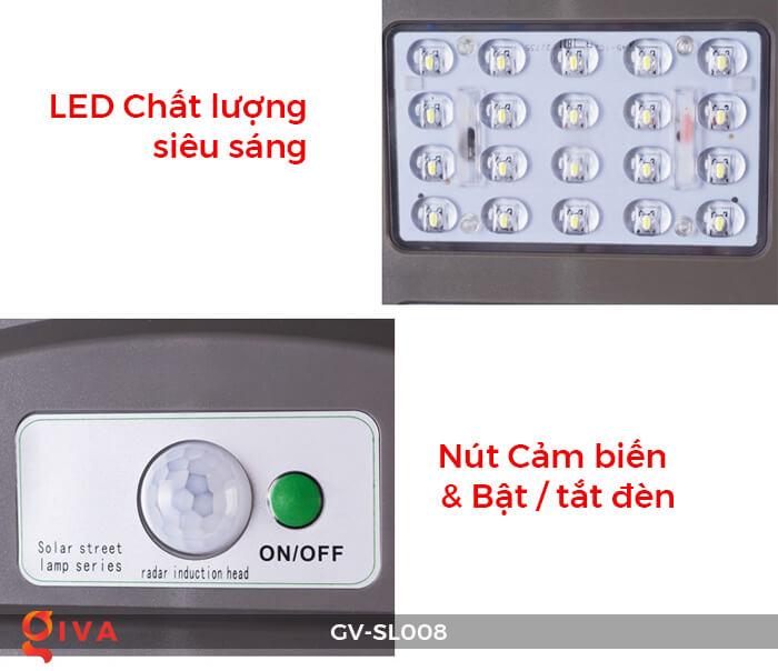 Đèn đường chạy năng lượng mặt trời GV-SL008 17