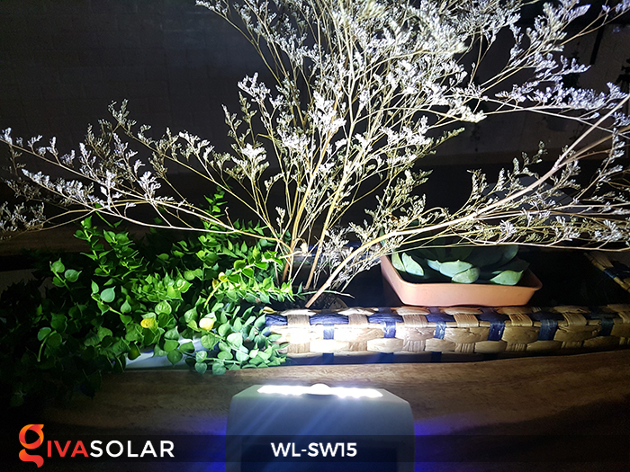 Đèn gắn tường sử dụng năng lượng mặt trời WL-SW15 15