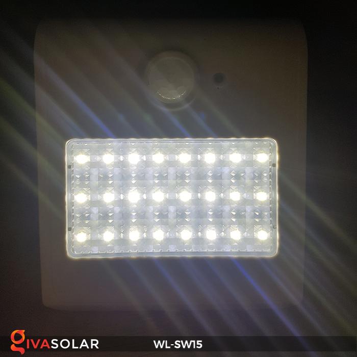 Đèn gắn tường sử dụng năng lượng mặt trời WL-SW15 16