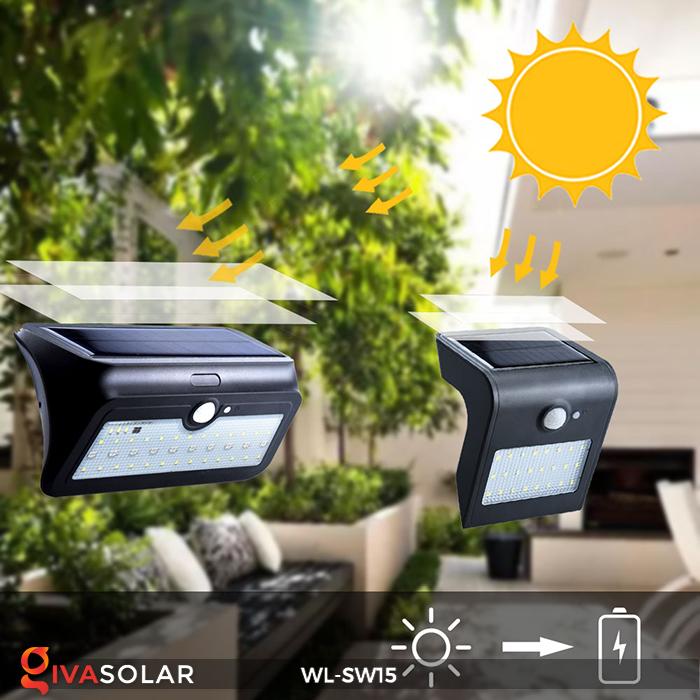 Đèn gắn tường sử dụng năng lượng mặt trời WL-SW15 18