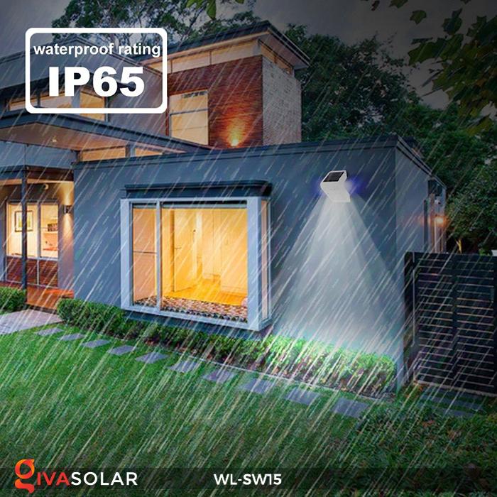 Đèn gắn tường sử dụng năng lượng mặt trời WL-SW15 20