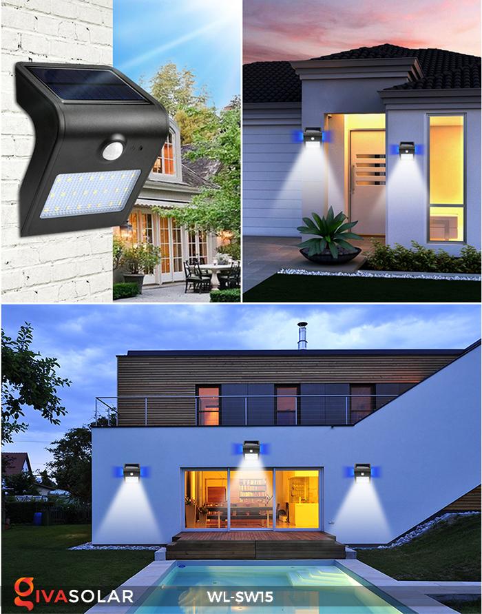 Đèn gắn tường sử dụng năng lượng mặt trời WL-SW15 22