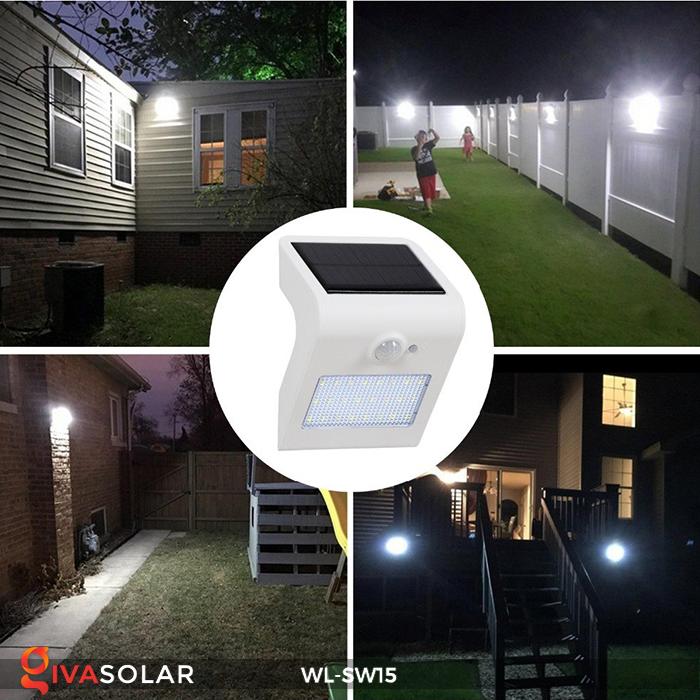 Đèn gắn tường sử dụng năng lượng mặt trời WL-SW15 23
