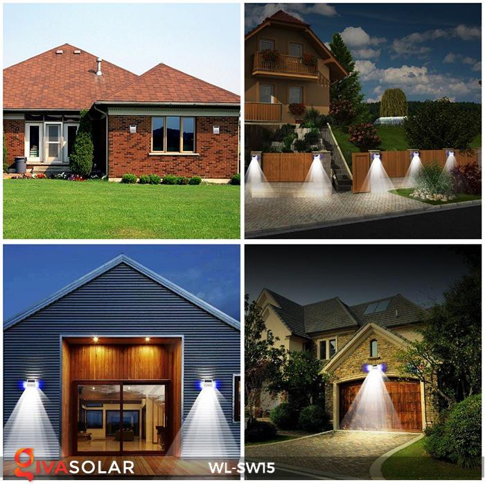 Đèn gắn tường sử dụng năng lượng mặt trời WL-SW15 24