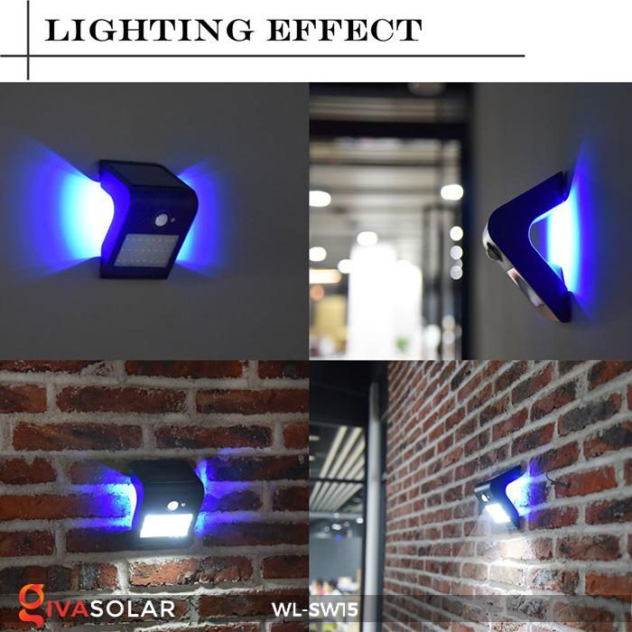 Đèn gắn tường sử dụng năng lượng mặt trời WL-SW15 25